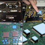 100x100x1.5mm Aikenuo Doux Thermique Tampon en silicone 6W / m Thermique Conductivité Conducteur, (Dissipateur de chaleur Graisse Mis à jour) Refroidissement silicium drap Pads Pour Portable GPU / CPU / VGA / IC / LED Réduire Travail Température de la mar image 3 produit
