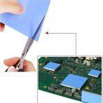 100x100x1.5mm Aikenuo Doux Thermique Tampon en silicone 6W / m Thermique Conductivité Conducteur, (Dissipateur de chaleur Graisse Mis à jour) Refroidissement silicium drap Pads Pour Portable GPU / CPU / VGA / IC / LED Réduire Travail Température de la mar image 1 produit