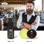 8 PCS Kit de Soins de Barbe, LeSB huile à barbe kit, Huile à barbe naturelle, Baume à barbe bio, Un ciseaux à barbe acier inoxydable, Deux peigne à barbe, Une brosse à barbe en Soie de Porc, Cadeau Idéal pour homme de la marque LeSB image 3 produit