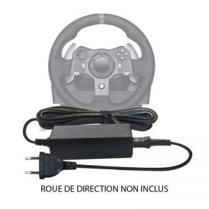 ABC Products® Remplacement DC 24V / 24 V Volt Alimentation Adaptateur Secteur Cable Pour Xbox 360, One Microsoft, Sony PS2, PS3, PS4 Playstation, Logitech G25, G27, G29, G920, G940, GT Driving Force Gaming + Pro, MOMO Force EVO Racing Volant Steering Whee image 0 produit