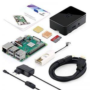 ABOX Raspberry Pi 3 Modèle B Plus (3 B+) Starter Kit【2018 Version Dernière】 32 Go Classe 10 SanDisk Micro SD Carte, 5V 2.5A Alimentation avec Interrupteur Marche/Arrêt Boîtier Noir de la marque ABOX image 0 produit