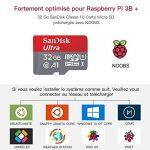 ABOX Raspberry Pi 3 Modèle B Plus (3 B+) Starter Kit【2018 Version Dernière】 32 Go Classe 10 SanDisk Micro SD Carte, 5V 2.5A Alimentation avec Interrupteur Marche/Arrêt Boîtier Noir de la marque ABOX image 3 produit