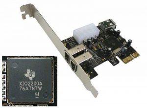Adapter World Carte contrôleur PCI Express vers Firewire 400 IEEE1394a Chipset Texas Instrument de la marque ADAPTER WORLD image 0 produit
