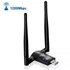 AIZUSOX CLE WiFi USB 3.0 1200Mbps WiFi Dongle 5dBi Double Bande 5G 867Mbps+2.4G 300Mbps PC fenêtre 7/8/10 XP Vista Mac OSX Linux de la marque AIZUSOX image 0 produit