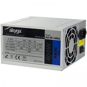 akyga AK de B1–400S Bloc d'alimentation 400W, Ventilateur 80mm Silencieux Gris de la marque Akyga image 0 produit