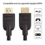 AmazonBasics Lot de 2câbles HDMI 2.0 Haut débit Compatible Ethernet / 3D / Retour Audio [Nouvelles Normes] 0,9m de la marque AmazonBasics image 2 produit
