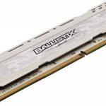 Ballistix Sport LT BLS8G4D240FSC 8Go (DDR4, 2400 MT/s, PC4-19200, DR x8, DIMM, 288-Pin) Mémoire - Blanc de la marque Ballistix image 2 produit