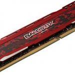 Ballistix Sport LT BLS8G4D240FSE 8Go (DDR4, 2400 MT/s, PC4-19200, DR x8, DIMM, 288-Pin) Mémoire - Rouge de la marque Ballistix image 2 produit