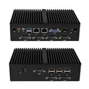 Best Barebones Pc Kettop-Mi19C7 Intel Celeron J1900 4 Cores,Up To 2.42Ghz (4Gb Ram/32Gb Ssd/Wifi) Fanless,7 Com,Dual Lan,Kiosk/Ps/Ipc de la marque Kettop image 0 produit