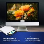 Bluray Externe Lecteur DVD 3D 4K, USB 3.0 Graveur Blu-Ray Portable CD DVD Row Writer pour Mac Os, Windows, PC de la marque PIAEK image 3 produit