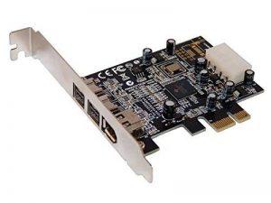 Carte Controleur PCI Express 1x FIREWIRE 800 et 400, 1 port IEEE1394A et 2 ports IEEE1394B - Chipset TI TEXAS INSTRUMENTS par Computer District. de la marque Computer District image 0 produit