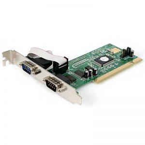 Carte PCI avec 2 Ports Série DB-9 RS232 - UART 16550 - 1x PCI Mâle - 2x RS232 DB-9 Mâle de la marque StarTech.com image 0 produit