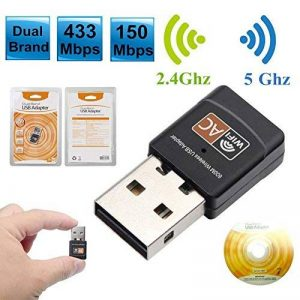 Carte réseau sans fil Récepteur sans fil Wifi USB sans fil 2.4G/5G sans fil 600Mbps Adaptateur sans fil WiFi avec antenne de la marque flower205 image 0 produit