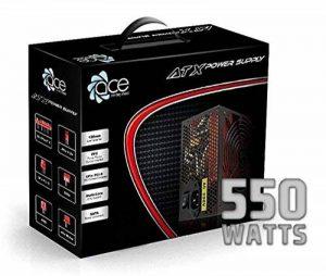 Changer de Source D'alimentation PSU 550W ATX avec ventilateur 12cm rouge silencieux / pour PC Computer / iCHOOSE de la marque iChoose Limited image 0 produit