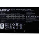 Cooler Master MasterWatt Lite 600 230V Alimentation PC 'Non-modulaire, 80 Plus White, 600W' MPX-6001-ACABW-EU de la marque Cooler Master image 2 produit