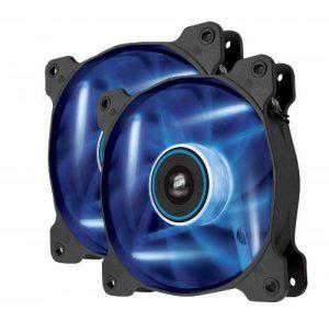 Corsair AF120 LED Quiet Edition 120mm Haut Débit LED Ventilateur de Boitier (Dual Pack) Bleu de la marque Corsair image 0 produit