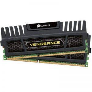 Corsair CMZ8GX3M2A1600C9 Vengeance 8GB (2x4GB) DDR3 1600 Mhz CL9 Mémoire pour ordinateur de bureau performante avec profil XMP. Noir de la marque Corsair image 0 produit