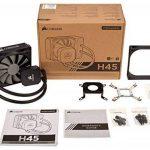 Corsair Hydro H45 Refroidisseur Liquide (120mm Radiateur, Une SP120 PWM Ventilateur, All-in-One Liquid CPU Cooler) Noir de la marque Corsair image 2 produit