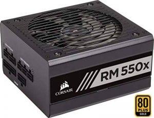 Corsair RM550x Alimentation PC (Modulaire Complet, 550 Watt, 80 PLUS Gold) Noir de la marque Corsair image 0 produit