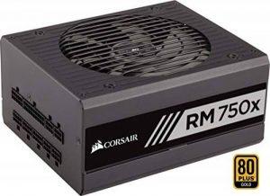 Corsair RM750x Alimentation PC (Modulaire Complet, 750 Watt, 80 PLUS Gold) Noir de la marque Corsair image 0 produit