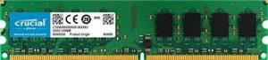 Crucial CT25664AA1067 2Go (DDR2, 1066MHz, PC2-8500, DIMM, 240-Pin) Mémoire de la marque Crucial image 0 produit