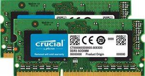 Crucial CT2C8G3S1339MCEU 16Go Kit (8Gox2) (DDR3L, 1333 MT/s, PC3-10600, SODIMM, 204-Pin) Mémoire pour Mac de la marque Crucial image 0 produit