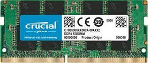 Crucial CT4G4SFS824A 4Go (DDR4, 2400 MT/s, PC4-19200, SR x8, SODIMM, 260-Pin) Mémoire de la marque Crucial image 0 produit