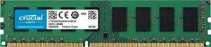Crucial CT51264BD160BJ 4Go (DDR3L, 1600 MT/s, PC3L-12800, Single Rank, DIMM, 240-Pin) Mémoire de la marque Crucial image 0 produit