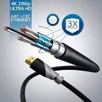 CSL - 2m (mètres) câble Mini HDMI 1.4a / 2.0 (High Speed) avec prise en charge ECHT 3D & Ethernet | Adapté à Full HD/Ultra HD/HD Ready / 3D | 1080 p / 2160 p / 4k de la marque CSL-Computer image 2 produit