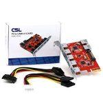 CSL – USB 3.0 Carte contrôleur PCI Express (Super Speed) | (PCIe) Carte Interface USB 3.0 | 5 x Ports externes / 2 x cports Interne | HUB USB Interne | Compatible Windows 10 de la marque CSL-Computer image 3 produit