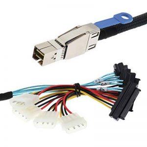 D DOLITY Câble Connecteur Mini SAS HD SAS vers SAS Mini SAS (SFF-8644) Compatible avec SAS 3.0 de la marque D DOLITY image 0 produit