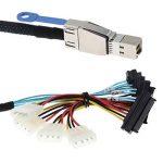 D DOLITY Câble Connecteur Mini SAS HD SAS vers SAS Mini SAS (SFF-8644) Compatible avec SAS 3.0 de la marque D DOLITY image 4 produit