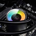 DEEPCOOL CASTLE 240 RGB Liquide Refroidisseur,240mm Radiateur,Watercooling,Éclairage RGB Avancé,Contrôle par Logiciel,All-in-One Liquid CPU Cooler,Ventilateurs de processeur PC,Support AMD TR4,Threadripper de la marque DEEPCOOL image 1 produit