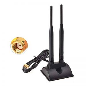 Eightwood Antenne WiFi 2.4G / 5.8G Antenne Magnétique Double Fréquence 6dBi avec RP SMA Câble 1.2m Extension pour Carte WiFi Carte PCI sans Fil Wirelesse Routeur Bluetooth de la marque Eightwood image 0 produit