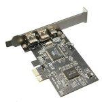 ELEGIANT Bureau PCI-E Express Carte Express Card Contrôleur FireWire 1394 a IEEE1394 Carte d'extension Typ2 de la marque ELEGIANT image 2 produit