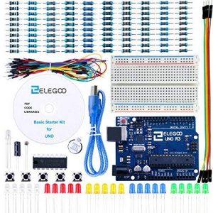 ELEGOO Arduino-Compatible Carte UNO R3 Kit De Démarrage Basique avec Guide d'utilisation Français Kit d'apprentissage de Base Projet de la marque ELEGOO image 0 produit