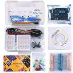 ELEGOO Arduino-Compatible Carte UNO R3 Kit De Démarrage Basique avec Guide d'utilisation Français Kit d'apprentissage de Base Projet de la marque ELEGOO image 1 produit