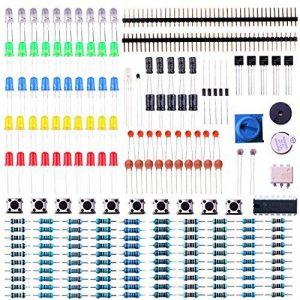 ELEGOO Composants Électroniques Kit de Démarrage avec Potentiomètre de Précision, Buzzer, Condensateurs, pour Arduino UNO Mega 2560 Raspberry Pi de la marque ELEGOO image 0 produit
