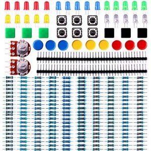 ELEGOO Pack de Composants Electronique avec Résistances, LEDs (Del), Switch, Potentiometre pour Arduino UNO Mega 2560 Raspberry Pi de la marque ELEGOO image 0 produit