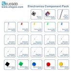 ELEGOO Pack de Composants Electronique avec Résistances, LEDs (Del), Switch, Potentiometre pour Arduino UNO Mega 2560 Raspberry Pi de la marque ELEGOO image 4 produit