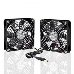 ELUTENG Ventilateur 120mm Double 2 in 1 USB Fan Grille Ventilateur de PC 5V Fan Cooler Refroidisseur 12cm Cooling pour PS4 PS3 Xbox Routeur Mini PC de la marque ELUTENG image 0 produit