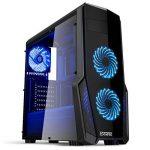 EMPIRE GAMING - Boitier PC Gaming WareFare Noir LED Bleu : USB 3.0, 3 Ventilateurs LED 120 mm, paroi latéral Transparente - ATX/mATX / mITX de la marque EMPIRE GAMING image 1 produit
