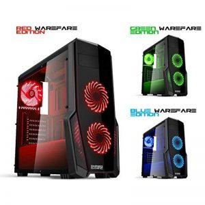 EMPIRE GAMING - Boitier PC Gaming WareFare Noir LED Rouge : USB 3.0, 3 Ventilateurs LED 120 mm, paroi latéral Transparente - ATX/mATX / mITX de la marque EMPIRE GAMING image 0 produit
