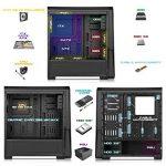 EMPIRE GAMING - Boitier PC Gaming WareFare Noir LED Verte : USB 3.0, 3 Ventilateurs LED 120 mm, paroi latéral Transparente - ATX/mATX / mITX de la marque EMPIRE GAMING image 4 produit