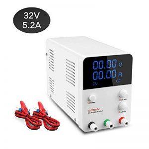 Eventek Alimentation DC Stabilisée Laboratoire Réglable 0-32V/0-5,2 Amp LED Affichage Numérique de la marque eventek image 0 produit
