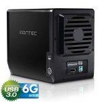 """FANTEC QB-35US3-6G Boîtier pour quatre disques durs externes (montage de 4 disques durs SATA I/II/III de 3,5"""" (8,89 cm), port USB 3.0 et eSATA, 6G prise en charge, ventilateur de 80 mm) Noir de la marque Fantec image 3 produit"""
