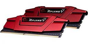 G.Skill 16GB (2 x 8GB) Ripjaws V Series 288-Pin DDR4 SDRAM DDR4 2666 (PC4-21300) Intel Z170 Platform/Intel X99 Platform Desktop Memory Model F4-2666C15D-16GVR de la marque G.Skill image 0 produit