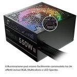 GAMDIAS astrape P1–750g RGB Alimentation ATX PC de Bureau de Gaming–Complètement modulaire–750W–80Plus Gold–RGB Ventilateur 140mm–PFC Actif (astrape P1, 750W 80+ Gold) de la marque GAMDIAS image 4 produit