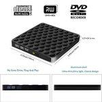 Graveur Externe Lecteur DVD,USB 3.0 Portable CD DVD RW ROM Writer pour PC Mac OS Windows 7 8 10 XP de la marque PIAEK image 4 produit