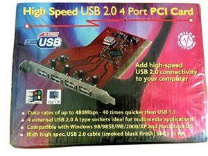 High Speed Haute Vitesse 4Ports USB 2.0480Mbits/s hub Adaptateur Carte contrôleur PCI de la marque High-Speed image 0 produit